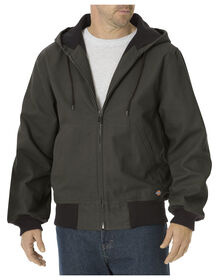 Sanded Duck Thermal Lined Hooded Jacket - BLACK OLIVE (BV)