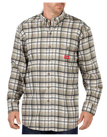 Flame-Resistant Long Sleeve Plaid Shirt