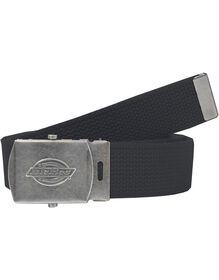 Military Buckle Fabric Belt - BLACK (BK)