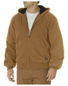 Sanded Duck Insulated Hooded Jacket - RINSED BROWN DUCK (RBD)