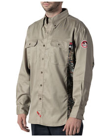 Walls® Flame Resistant Oilfield Camo Work Shirt - KHAKI (KH9)