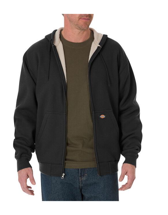 Bonded Waffle Knit Jacket - BLACK (BK)