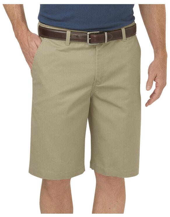 """Dickies KHAKI 10"""" Regular Fit Flat Front Short - RINSED DESERT SAND (RDS)"""