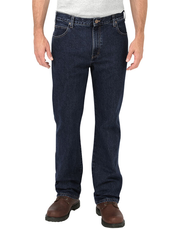 Regular Fit Boot Cut 5-Pocket Denim Jean - RINSED OVERDYED BLACK (RBB)