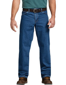 Relaxed Fit Stonewashed Carpenter Denim Jean - STONEWASHED INDIGO BLUE (SNB)