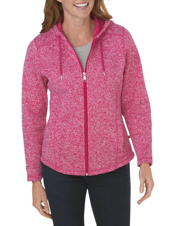 Women's Sweater Hooded Jacket - JAZZY/WHITE HEATHER (JZWH)