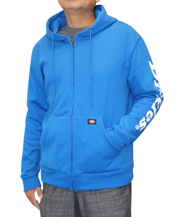 Men's Graphic Full Zip Hooded Dickie's Fleece - ROYAL BLUE (RB)