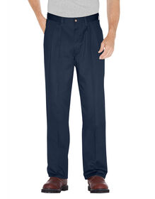 Premium Cotton Pleated Front Pant - DARK NAVY (DN)