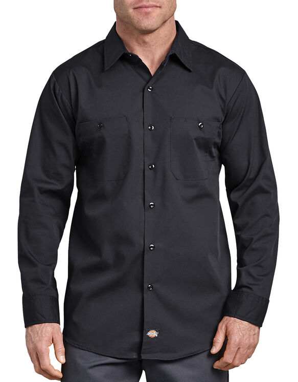 Industrial WorkTech Long Sleeve Ventilated Performance Shirt - BLACK (BK)