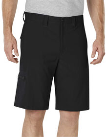 "Performance Flex 11"" Relaxed Fit Flat Front Bi-Stretch Short - BLACK (BK)"