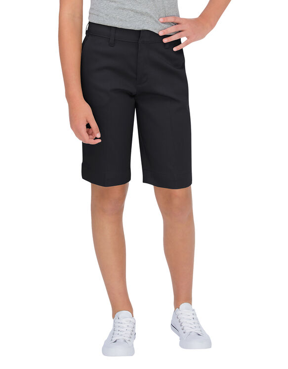 Juniors' Classic Fit Bermuda Stretch Twill Short