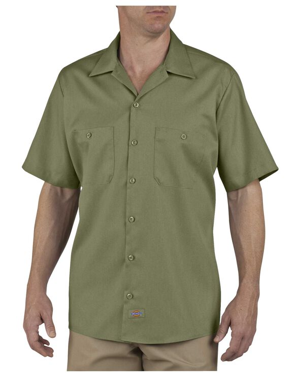 Industrial Patterned Short Sleeve Shirt - LIGHT SAGE (LS)
