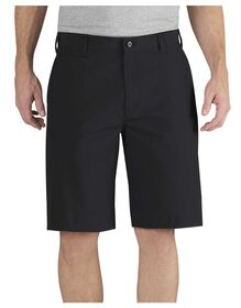 "Performance 11"" Relaxed Fit Flat Front Short - BLACK (BK)"