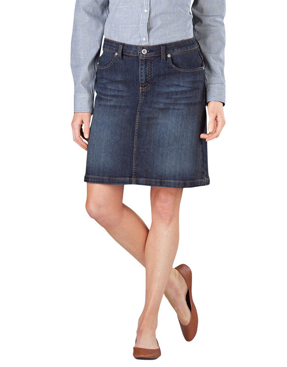 Verdusa Women's Casual Distressed Ripped A-Line Denim Short Skirt A-Blue#1 S Women's Maxi Pencil Jean Skirt- High Waisted A-Line Long Denim Skirts for Ladies- Blue Jean Skirt by Skirt BL.