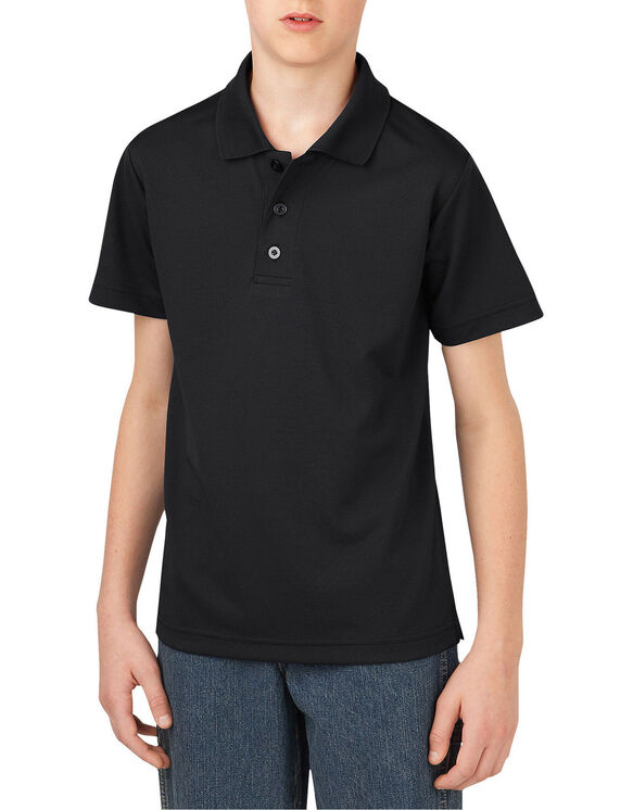 Boys' Performance Short Sleeve Polo, 4-7 - BLACK (BK)