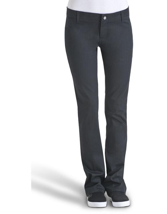 Dickies Girl Juniors Dealer No Pocket Straight Leg Pant - BLACK (BLK)