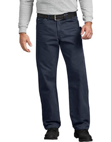Relaxed Fit Straight Leg Sanded Duck Carpenter Jean - RINSED DARK NAVY (RDN)