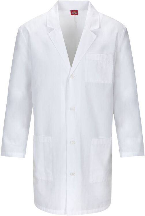 "Unisex EDS 37"" Lab Coat - DICKIES WHITE-LICENSEE (DWH)"