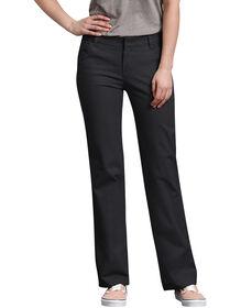 Pantalon en étoffe croisée extensible pour femme - Noir (BK)