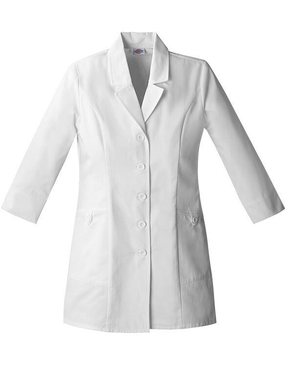"Women's EDS 3/4 Sleeve 31"" Lab Coat - DICKIES WHITE-LICENSEE (DWH)"