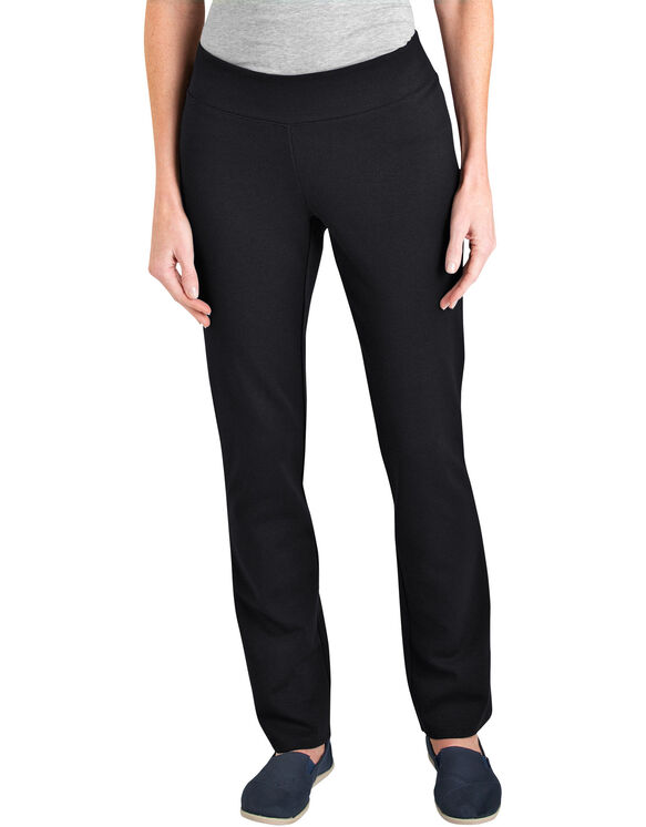 Women's Modern Fit Knit Pull on Pant - BLACK (BK)