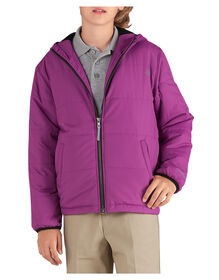 Kids' Puffer Jacket, 8-20 - PINK BERRY (IB)