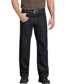 Industrial Regular Fit Denim Jean - RINSED BLACK (RBK)