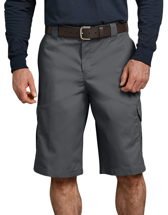 """Flex 13"""" Relaxed Fit Cargo Short - CHARCOAL (CH)"""