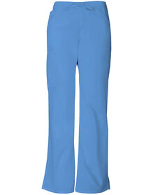 Women's Missy Fit EDS Drawstring Cargo Scrub Pant - CEIL BLUE-LICENSEE (CBL)