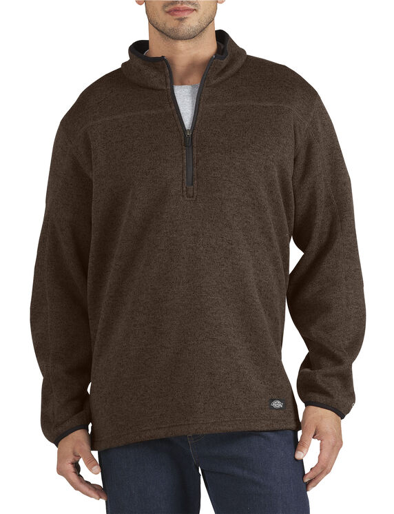 Performance Fleece Pullover - BROWN HEATHER (NH)