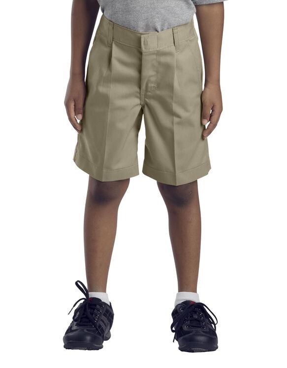 Boys' Pleated Front Short, 4-7 - KHAKI (KH)