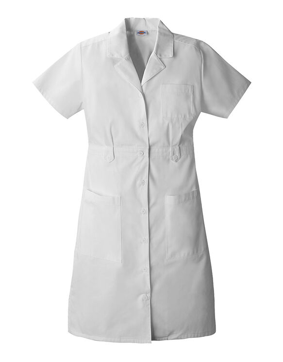 Womens EDS Signature Short Sleeve Button Front Dress - DICKIES WHITE (DWH)