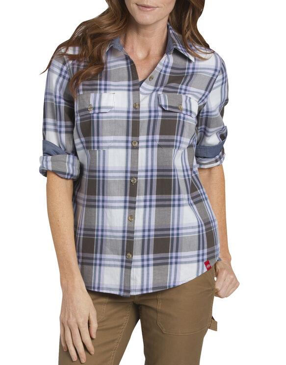 Women's Heritage Long Sleeve Plaid Shirt - MOSS/WISTERIA PLAID (RPQM)
