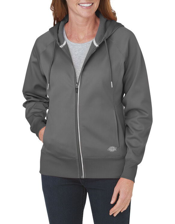 Women's Performance Full Zip Hoodie - DARK HEATHER GREY (DH)