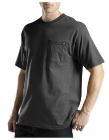 Short Sleeve Pocket Tee with Wicking - BLACK (BK)