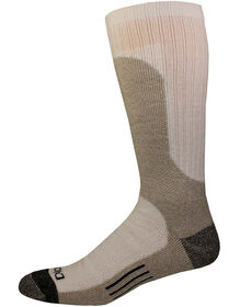 Shin Protector Crew Socks, 2-Pair - WHITE (WH)