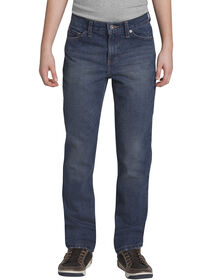 Boys' Slim Fit Tapered Leg 5-Pocket Denim Jean, 8-18 - AGED MEDIUM INDIGO 2 (AMI2)