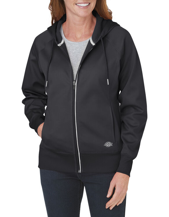 Women's Performance Full Zip Hoodie - BLACK (BK)