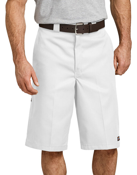 "13"" Loose Fit Multi-Use Pocket Work Short - WHITE (WH)"