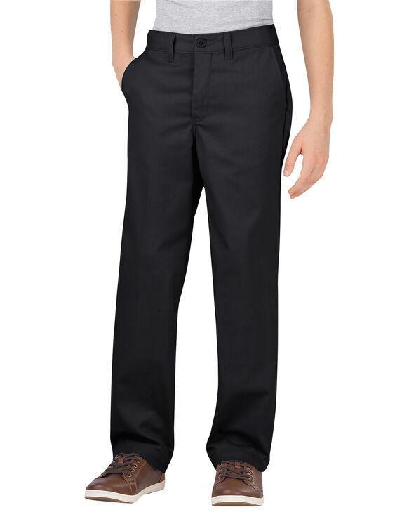 Boys' FlexWaist® Classic Fit Straight Leg Ultimate Khaki Pant, 8-20 - BLACK (BK)