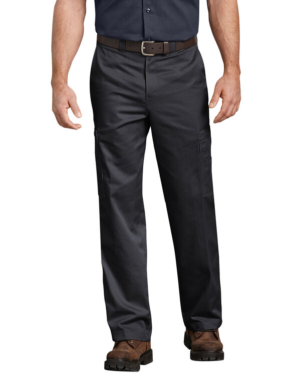 Industrial Relaxed Fit Cotton Cargo Pant - BLACK (BK)