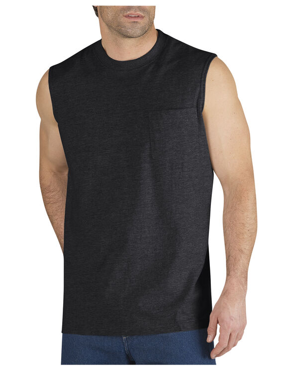 Sleeveless Pocket Tee - BLACK (BK)