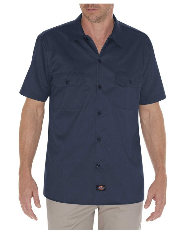 Slim Fit Short Sleeve Work Shirt