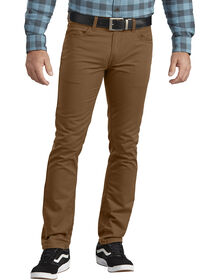 Dickies X-Series Flex Slim Fit Tapered Leg 5-Pocket Pant - STONEWASHED BROWN DUCK (SBD)