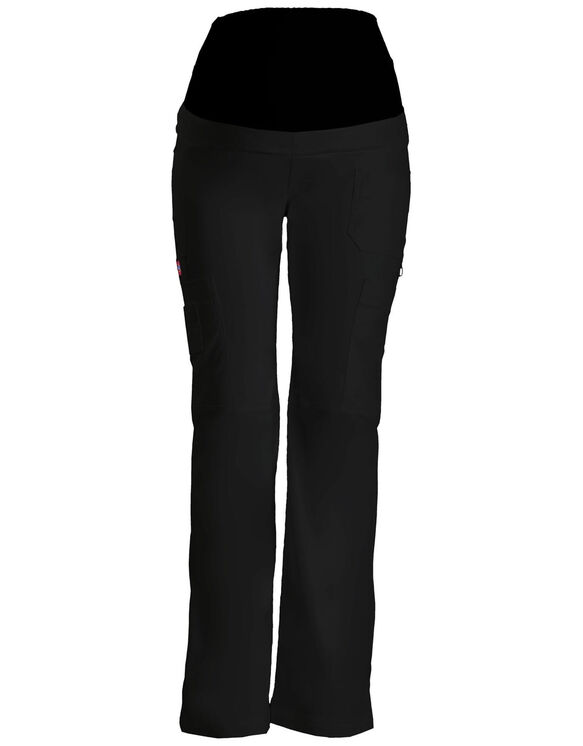 Women's Gen Flex Maternity Pull-On Scrub Pant - BLACK (BLK)