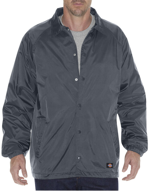Snap Front Nylon Jacket - CHARCOAL (CH)