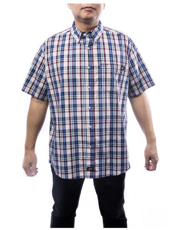 Chemise a carreaux avec bouton - BLUE (BL9)