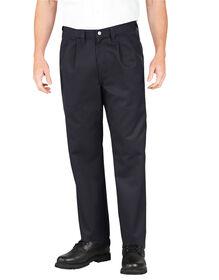 Industrial Pleated Front Comfort Waist Pant - BLACK (BK)
