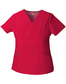 Women's EDS Mock Wrap Scrub Top