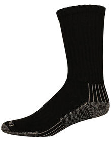 Industrial Heavyweight Cushion Work Crew Socks, 3-Pack, Size 13-15 - BLACK (BK)